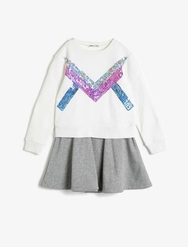 Koton Kids Pul Detayli Elbise Ekru